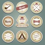 Hipster paper labels Stock Images