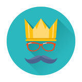 Hipster party crown icon Stock Image