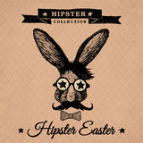 Hipster Pasen - uitstekend konijntje Royalty-vrije Stock Foto