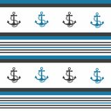 Hipster pattern background with anchor. Hipster pattern background with anchor Stock Illustration