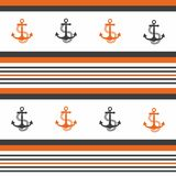 Hipster pattern background with anchor. Hipster pattern background with anchor Vector Illustration