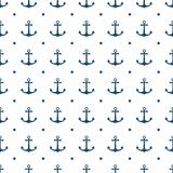 Hipster pattern seamless background with anchor. Hipster pattern background with anchor Stock Illustration