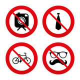 Hipster photo camera icon. Glasses symbol Stock Photos