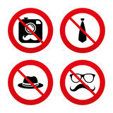 Hipster photo camera icon. Glasses symbol Royalty Free Stock Photo