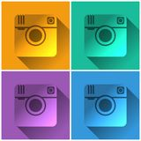 Hipster photo camera icon Royalty Free Stock Photography