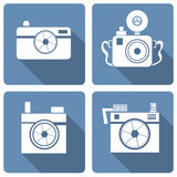 Hipster photo or camera icon Royalty Free Stock Images