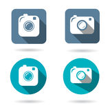 Hipster photo or camera icon set Royalty Free Stock Photography