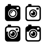 Hipster Photo or Camera Icons Set. Vector