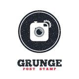 Hipster photo camera sign icon. Retro camera. Royalty Free Stock Photography