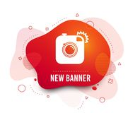 Hipster photo camera sign icon. Retro camera. Vector stock illustration