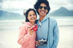 Hipster photography couple Stock Photo