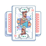 Hipster on playing card Stock Photo