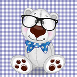 Hipster Polar Bear Stock Images