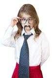 Hipster portrait child isolated.Fathers day. Royalty Free Stock Photo