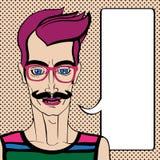 Hipster portrait Stock Photo