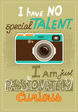 Hipster poster with vintage camera Royalty Free Stock Photo