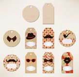 Hipster Price tags collection Stock Photography
