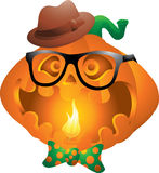 Hipster pumpkin halloween Royalty Free Stock Photo