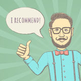 Hipster Recommend! Stock Image