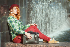 Hipster redhead girl Royalty Free Stock Photography