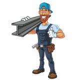 Hipster Repairman Cartoon Character Design. Vector Stock Images