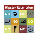 Hipster restriction Stock Photo