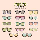 Hipster retro glasses Royalty Free Stock Photography