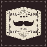 Hipster retro mustache Royalty Free Stock Images