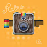 Hipster Retro Photo Camera Royalty Free Stock Photography
