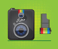 Hipster Retro Photo Camera Royalty Free Stock Photo