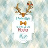 Hipster retro poster Royalty Free Stock Images
