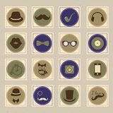 Hipster retro stamp icon set Royalty Free Stock Photography