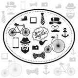 Hipster and retro style icon set Royalty Free Stock Photo