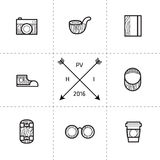 Hipster Retro Style Icons Stock Photography