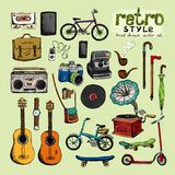 Hipster retro style objects Royalty Free Stock Photography