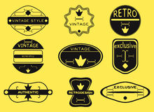 Hipster retro vintage badges, ribbons and labels hipster. Set hipster retro vintage badges, ribbons and labels hipster Stock Images