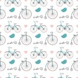 Hipster Retro Vintage Doodle Seamless Pattern Stock Image