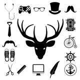 Hipster retro vintage elements icon set. Royalty Free Stock Photography