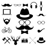 Hipster retro vintage elements icon set. Stock Photo