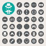 Hipster retro vintage elements icon set. Stock Photography