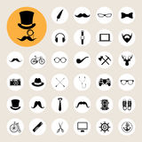 Hipster retro vintage elements icon set. Royalty Free Stock Photos