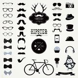 Hipster Retro Vintage Icon Set Stock Images