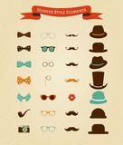 Hipster Retro Vintage Icon Set Stock Photo