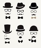 Hipster Retro Vintage Icon Set Royalty Free Stock Image