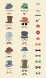 Hipster Retro Vintage Icon Set Stock Photos