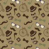 Hipster Retro Vintage Seamless Pattern Royalty Free Stock Photos
