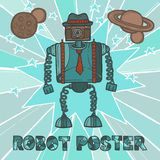 Hipster robot design Royalty Free Stock Images