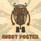 Hipster robot design Stock Image
