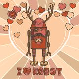 Hipster robot design Stock Images