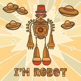Hipster robot design Stock Photography